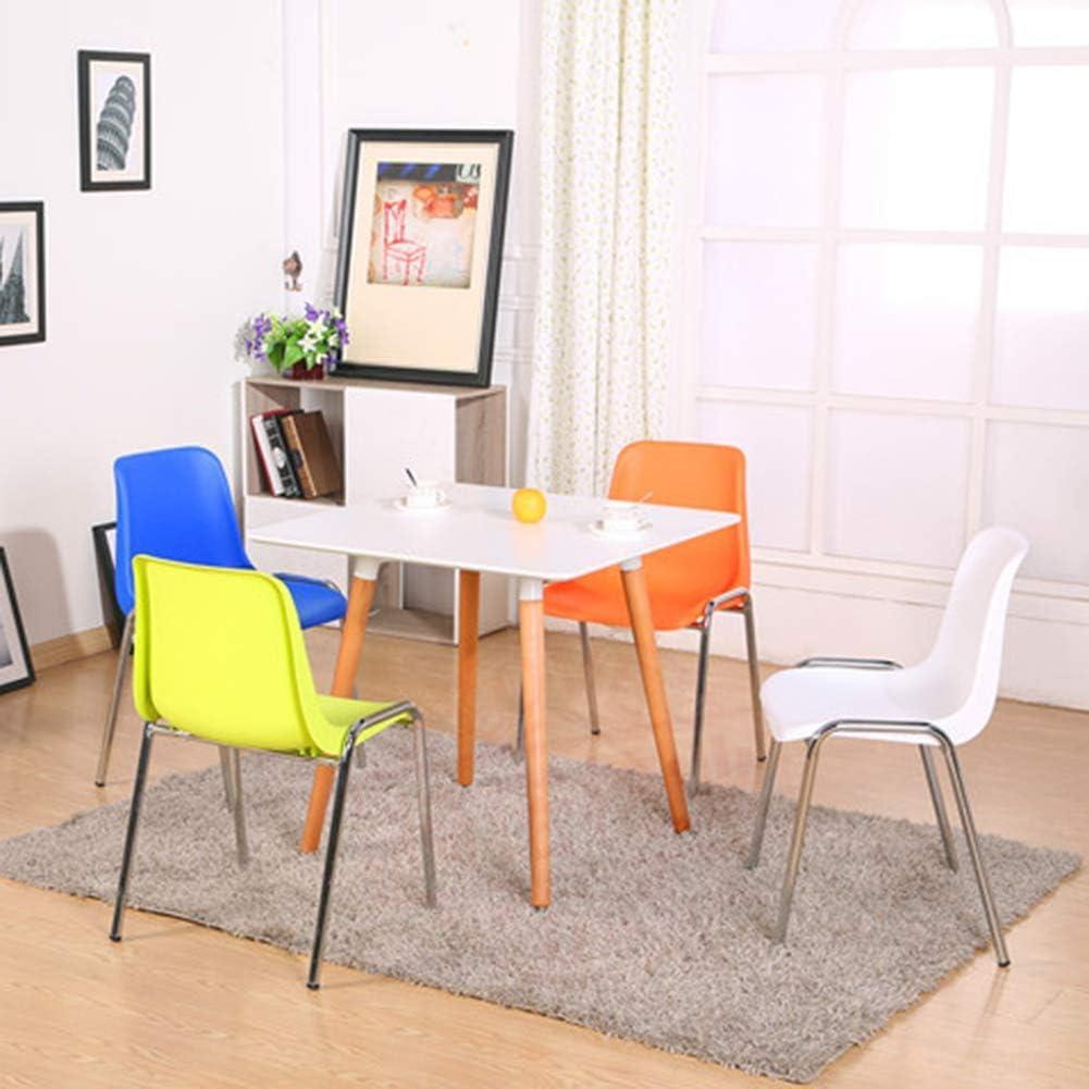 WEIZI Chai de Salle à Manger chaises en Plastique côté café Moderne Chaise Longue pour Bureau et Maison Chaise Longue de Bureau pour étudiant Bureau à Domicile Jaune White