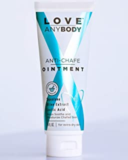 Love AnyBody Anti-Chafe Cream Ointment | Dermatologist Approved Chafe Relief | Natural, Unscented | Aluminum, Paraben, Phthalate + Cruelty Free | Skin Protectant | Squalene, Olive Extract, Lactic Acid