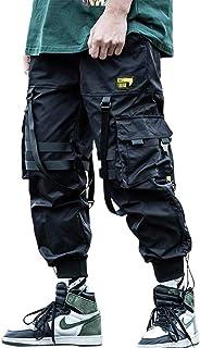 Aelfric Eden (エルフリック エデン) メンズ ジョガーパンツ ロング マルチポケット アウトドア ファッション カジュアル ジョギング クールなパンツ 引き紐付き