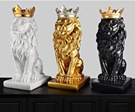 Regalo De Escultura De Decoraci óncorona De Oro Estatua Del León Decoraci ones Artesanales Decoraci ones Navideñas Para La Escultura Del Hogar Escultura Accesorios De Decoraci ón Del Hogar, Oro