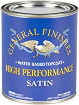 General Finishes QTHS High Performance Water Based Topcoat, 1 Quart, Satin