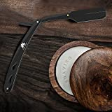 Equinox Professional Matte Black Straight Edge Razor