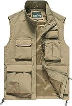 AIEOE Outdoor Vest Waterdicht Herenvest Ademend Visvest met Veel Zakken Utility-Vest