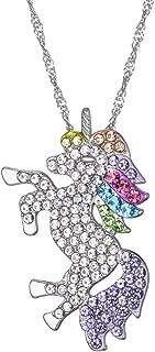 SHUHONEY Cute Rainbow Unicorn Necklace Bracelet Gift for Girls