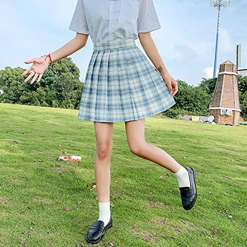 Falda Plisada Nuevas Faldas De Verano para Mujer, Falda Plisada De Cintura Alta para Niña, Minifaldas A Cuadros Coreanos De Estilo Japonés para Mujer, Mini