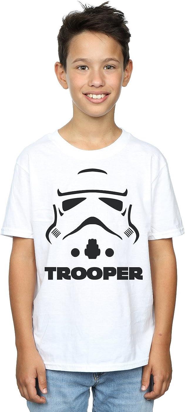 STAR WARS Boys Stormtrooper Trooper T-Shirt 5-6 Years White