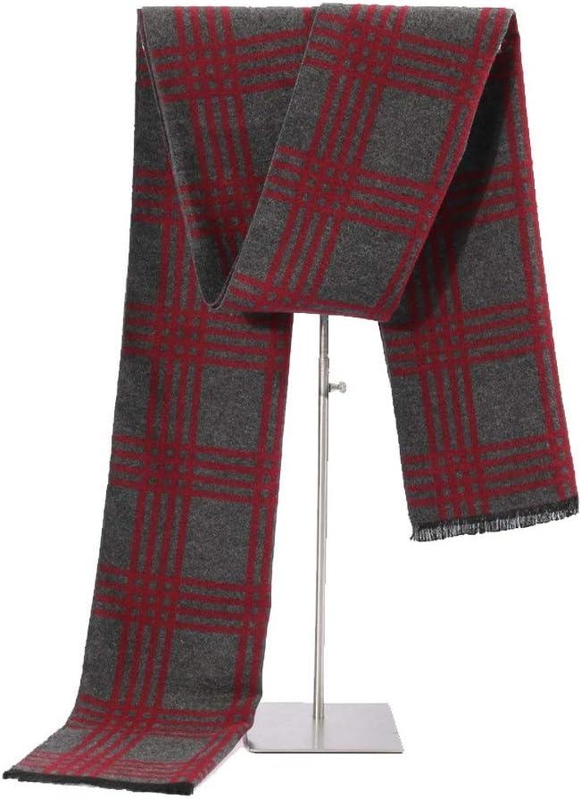 Zhukeke Mens Autumn Winter Warm Scarf Neckerchief Challenge the lowest Seattle Mall price of Japan ☆ Grid T Striped