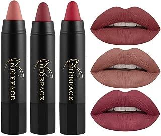 FOCALLURE 3pcs Matte Lipstick Lip Gloss Set Liquid Lip Color Waterproof Matte Liquid Lipstick