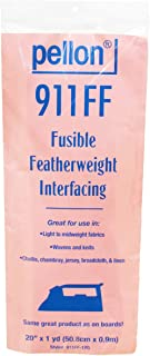 """Pellon White 911FF Fusible Featherweight Interfacing, 20"""" x 1 yd"""