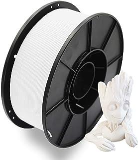 3Dプリンター用PLAフィラメント 高密度 PLA 造形材料 1KG 1.75mm 環境に優しい PLA樹脂 だいぶの3Dプリンターと3Dプリントペンが適用 DEMA(白/ホワイト)