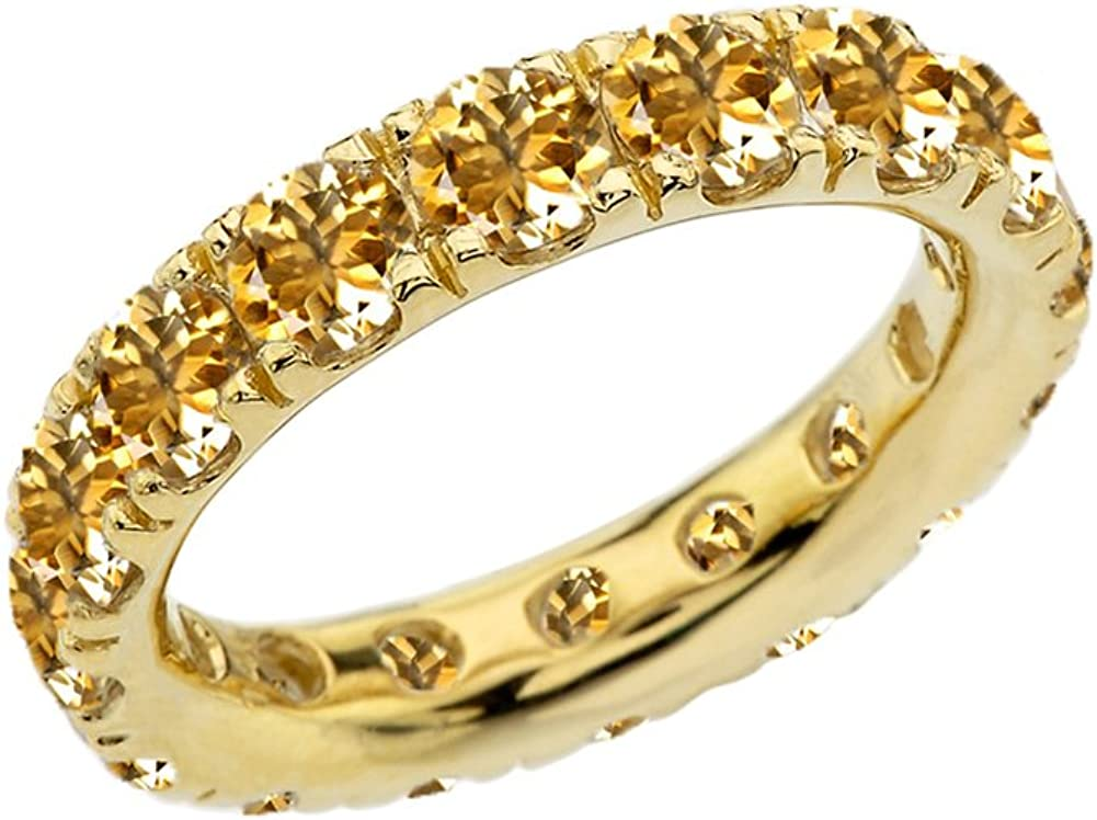 Modern Contemporary Rings 10k Max 86% OFF Yellow Birthston Gold Fixed price for sale November 4mm