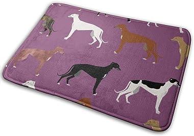 """Rgreyhound_Colors_Dark_Purple_Shop_Preview Floor Rug Indoor/Front Door Mats Home Decor Rubber Non Slip Backing 23.6""""(W) X"""