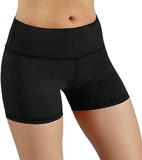 ODODOS Power Flex Yoga Short Tummy Control Workout Running Athletic Non See-Through Yoga Shorts with Hidden Pocket