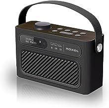 Roxel RDR-40 Stereo DAB/DAB+ Digital and FM Radio Portable Bluetooth Speaker with Dual Alarm Clock Function, USB & Micro S...