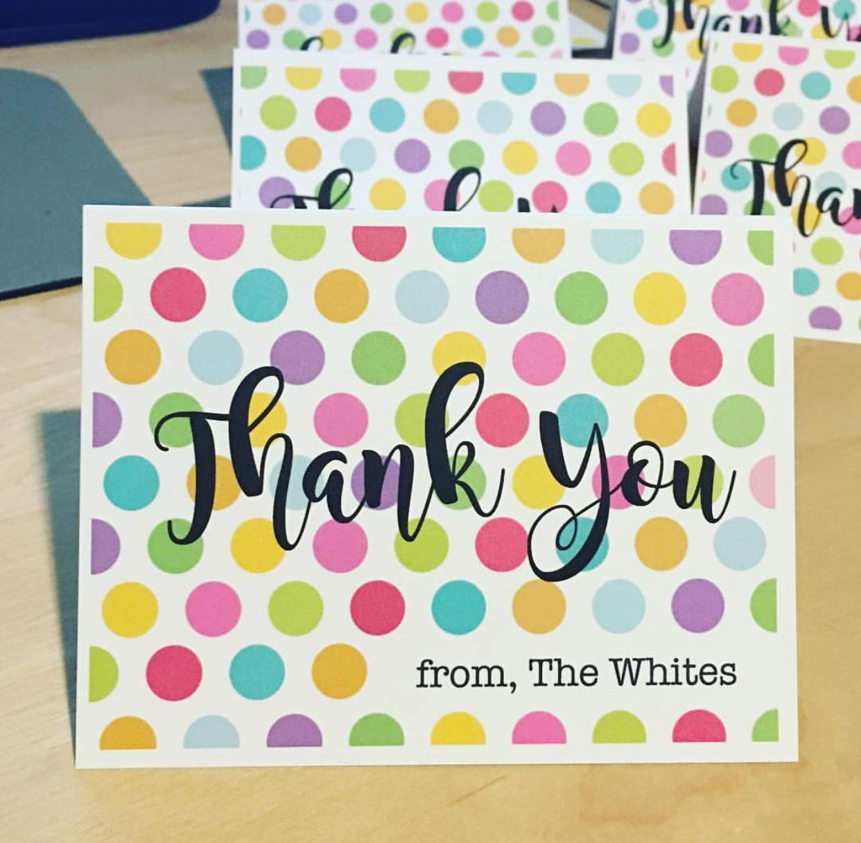 Personalized Gift Polka Dot Cards Note Thank Ranking TOP9 You 2021