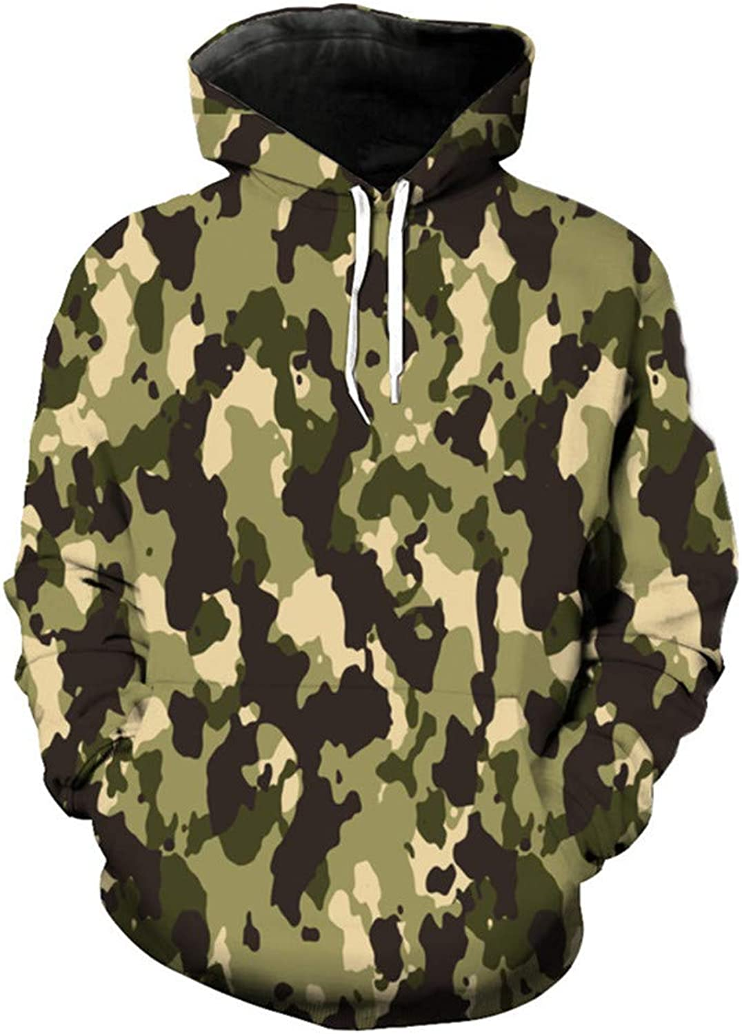 Fashion 3D Camouflage Hooded Hooded Hooded Sweatshirts c222cd