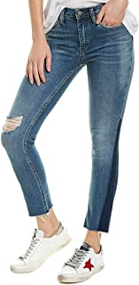Blank NYC Womens The Madison Crop High-Rise Crop Denim in Gnarly