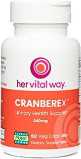 Cranberex Cranberry Concentrate Supplement Pills | Cranberry Extract Capsules for Urinary Tract Health and Kidney Care | 36mg PAC