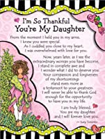 Blue Mountain Arts I'm So Thankful You're My Daughter by Suzy Toronto Miniature Easel-Back Print with Magnet (MNZ305)