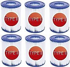 JXING Cartuchos de filtro para bomba de filtro Bestway, elemento de filtro tamaño II adecuado para Bestway tipo II, accesorios de limpieza de piscinas (6 unidades)