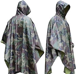 LYGLO MensCamouflageTactical Rain Coat Poncho Cover...