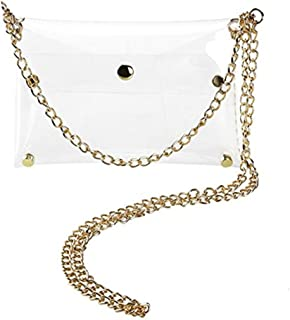 Patty Both Clear PVC Cross Body Bag Clutch Messenger Handbag Tote Shoulder Bag
