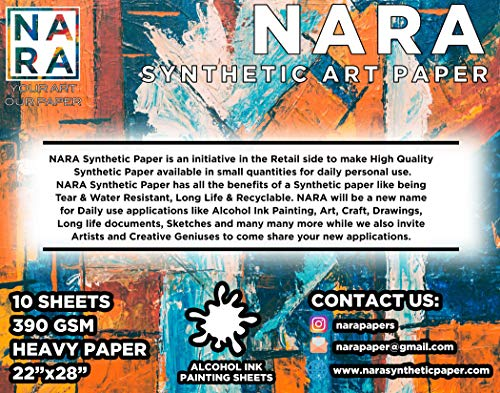 NARA Paper for Alcohol Ink Painting 320 GSM, Heavy Paper, 11x14