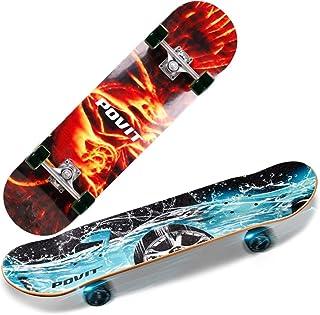 GuanMun Four-Wheeled Skateboard Professional Double Rocker Road Board Brush Street Board Maple Wood Board