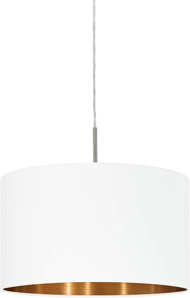 Eglo pasteri - lampada a sospensione  , in acciaio e tessuto 95044