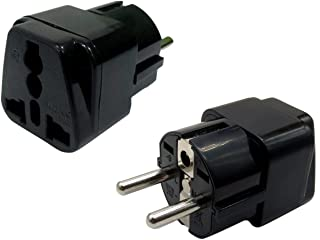 Bulfyss EU-2 Pin Universal Conversion Plug Which Support More Than 180 Countries (Black)