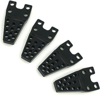 Aluminum Shock Mount Lift Kit Set for 1/10 Axial SCX10 RC Crawler Car #F (Black)