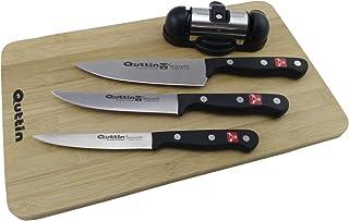 QUTTIN SYBARITE Set 3 Cuchillos Tabla+AFILADOR