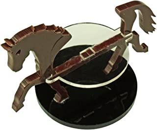 LITKO Warhorse Character Mount with 40mm Circular Base, Brown