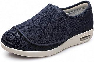 B/H Zapatos DiabéTicos para Hombres,Zapatos de hinchazón de pie para Personas Mayores, agregando Fertilizante para ensanch...
