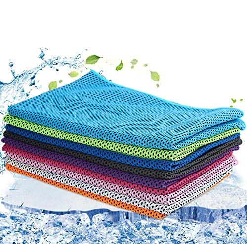 9 Pack Snap Cooling Sport Towels,Fast Drying Absorbent Sports Towel for Neck, Fitness,Yoga