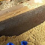 Sandkastenvlies 2x2 m grau Vlies für Sandkasten wasser- und luftdurchlässig vermindert Unkrautwachstum 100 g/m² PP-Vlies