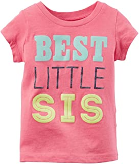 Carters Baby Girls Best Little Sis Tee Pink 9M