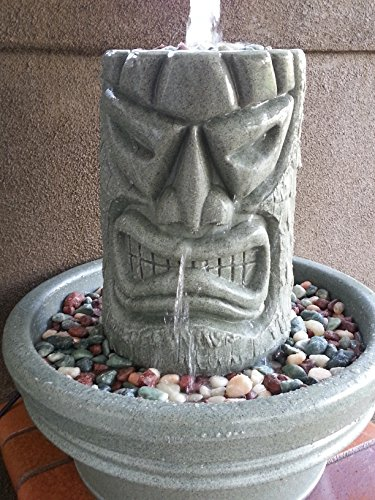 Angry Tiki Fountain (Granite Green)