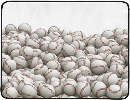 KAGoldU Baseballs Pile Panorama 3 D Panorama Panorama Panorama Tragbare Und Faltbare Deckenmatte 60x78 Zoll Handliche Matte Für Camping Picknick Strand Indoor Outdoor Reise B07LFWKGZ6 | Moderne und stilvolle Mode  6dc35b