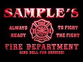 ADVPRO Name Personalized Custom Firefighter Fire Department Firemen Neon Sign Red 24x16 inches st4s64-qy-tm-r