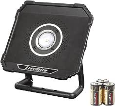 EverBrite LED Work Light Outdoor Portable Spotlight with Stand 800 Lumens Flood Light for Car Repairing, Workshop, Garage, Job Site, Garden, Lawn, Emergency Lighting
