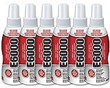 (Pack of 6) E6000 Spray Adhesive 118.2ml 2 oz. CLEAR Permanent Multi Purpose No Odor EU10563011