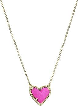 Ari Heart Short Pendant Necklace