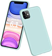 """DTTO iPhone 11 Case, [Romance Series] Full Covered Shockproof Silicone Cover [Enhanced Camera and Screen Protection] with Honeycomb Grid Pattern Cushion for Apple iPhone 11 6.1"""" 2019, Mint Green"""
