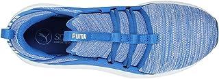 Puma Mega NRGY Heather Knit Running Shoe For Men, Blue, Size 43 EU