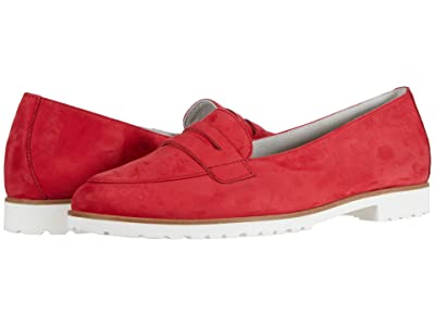 Paul Green Carmela Flat (Red Nubuck) Women