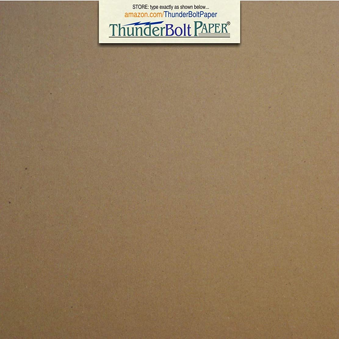 100 Sheets Chipboard 46pt (Point) 6 X 6 Inches Heavy Weight Square Scrapbook Size .046 Caliper Thick Cardboard Craft and Packing Brown Kraft Paper Board