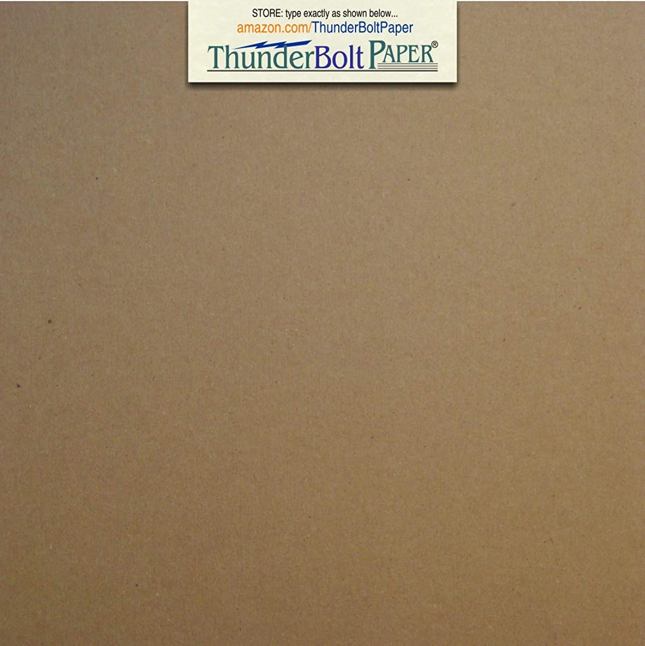 50 Sheets Chipboard 46pt (Point) 6 X 6 Inches Heavy Weight Square Scrapbook Size .046 Caliper Thick Cardboard Craft and Packing Brown Kraft Paper Board