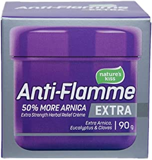 Anti-Flamme Extra Arnica Herbal Relief Cream - Topical Pain Relief - 90g Tub