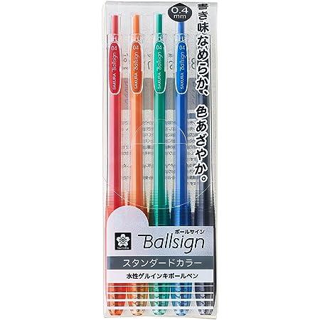 6 Color Set Ball Sign PGB6 Gelly Roll Sakura Gel Ink Ballpoint Pen